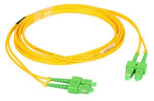 China G657A1 PVC Duplex Fiber Optic Patch Cord 9/125 For Gigabit Data Network on sale