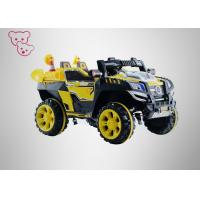 Yellow Musical Kids Electric Cars , Electric Ride On Cars For 3 - 8 Years Old