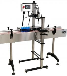 China Electric Semi Automatic Capping Machine With PLC Touch Screen Control on sale