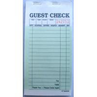 CT-G6000 guest checks  2parts green booked ISO Certificate from  TIMIpaper for restaurant fast selling in US MARKET