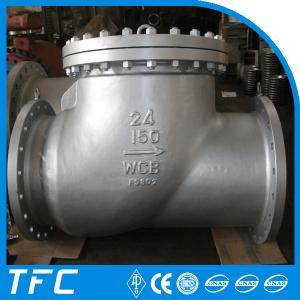 China double flange cast steel swing check valve on sale