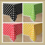 China party tableware Polka Dot Printed paperTable Covers Disposable PE Tablecloth wholesale
