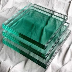 China Green Color Soda Lime 8mm Tempered Glass Panels Building Use on sale