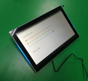 China Meeting room management 10'' IPS touch screen with RGB LED NFC RJ45 POE on sale
