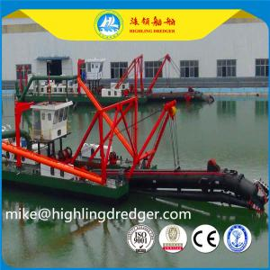 China Hydraulic river digging dredger, cutter suction dredger for sale,africa gold dredging machine on sale