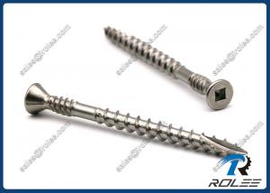 Quality 304/316 Stainless Square Trim Head Double Thread Deck Screws w/ 4 Nibs, Type 17 for sale