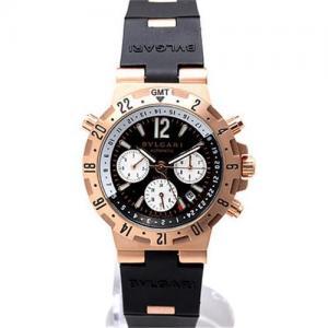 replica watches bvlgari gmt chronograph bvlgari 18k gold case gmt chronograph black white ring