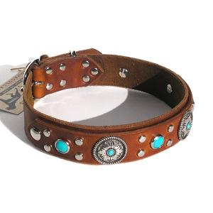China Embroidered Paw Leather Dog Collar GCDC-062PRCB on sale