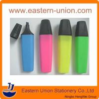 popular plastic material high quality multi colored highlighter pen