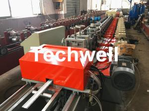 China 39 / 42 / 45 / 55 / 65 / 77mm PU Foam Roller Shutter Door Slat Roll Forming Machine With Servo Flying Saw Cutting on sale