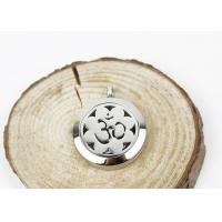 Hollow Sun Flower Essential Oil Jewelry Diffuser Necklace Locket 6.5mm Thickness