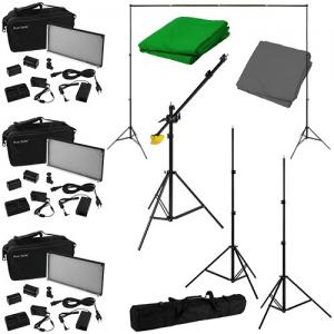 China Photographic Studio flash lighting kits Mini strobe flash lighting E kits 100ws*3 Photo studio kits on sale
