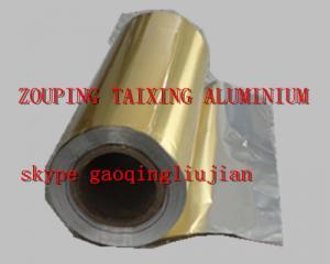 China golden lacquer aluminium foil for airline lids on sale