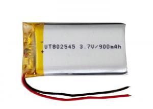 Quality Batería recargable unicelular del Li-polímero de la batería 802545 3.7V 900mah for sale