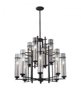 China Excellent Crafts Hotel Chandeliers Antique Candle Edison Lights Sparkling Glass Lighting on sale
