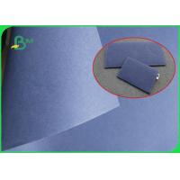 China Blue Fabric Washable Kraft Liner Paper 0.55mm thickness for Wallets making on sale