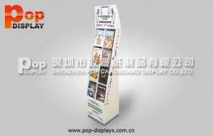 China Trendy Matte Lamination Corrugated Book Display CMYK Offset Printing With Pockets on sale
