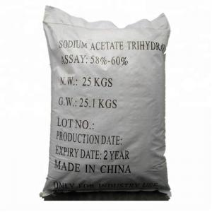 China high quality Tech /Food Grade CAS 6131-90-4 Sodium Acetate Trihydrate CH3COONa.3H2O 58%-60% with professional service on sale