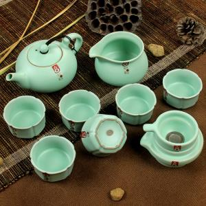 China 10PCS Ruyao Porcelain Tea Set Japanese Teapot Great for High End Business Gifts (RY002) on sale