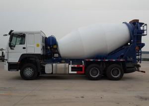 China 9.726L Displacement Concrete Mixer Truck / Bulk Cement Trailer Horsepower 371Hp Engine wholesale