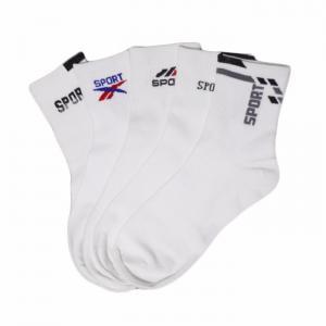 China Classic cheap custom logo white cotton tube sports socks on sale