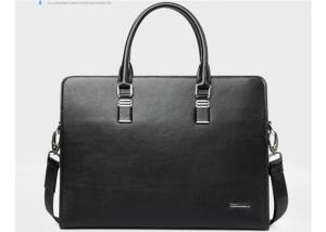 China Custom Eco - friendly ipad mens leather briefcases & business bags black or dark blue on sale