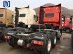Red 6 x 4 Prime Mover Vehicle With Euro III Emission Engine 340 HP,420HP, SINOTRUK HOWO 10 Wheel Tractor Truck, LHD/RHD