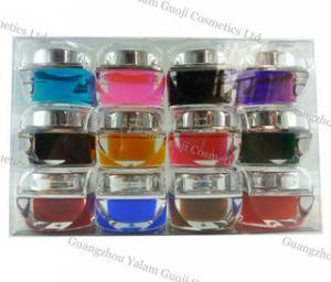 China UV Gel Nails Polish For Nail Art Printer With 15g / Bottle, color UV gel, Glitter UV gel on sale