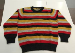 China Colors Stripe Softness Pullover Knitted Sweaters For Kids Long Sleeve Crew Neck 100% Cashmere supplier