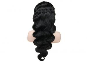 China Cuticle Aligned Full Lace Human Hair Wigs 10 - 20 Inch Available No Shedding on sale