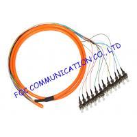 China Bundle Fan Out Fiber Optic Pigtail Multimode FC 12Cores For Fiber Networks on sale