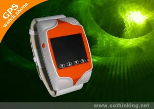 China Double Clock Display Wrist Watch GPS Tracker With Power On / Off Button / S0S Button on sale