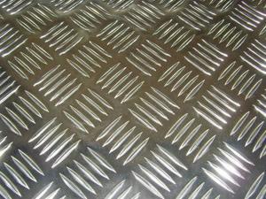 China Flat Five Diamond Embossed Aluminium Sheet / Aluminium Tread Plate With ASTM Standard on sale