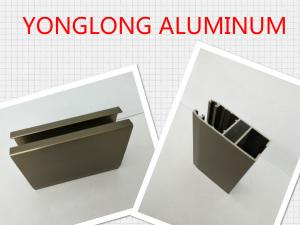 China Electrophoresis Matte Or Flat Bronze Aluminum Window Profiles Length Shape Customized on sale
