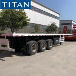 20ft 40 feet shipping container flatbed platform trailer for sale