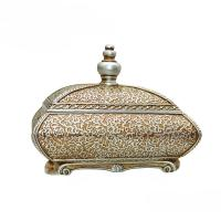 Room Decor Antique Style Jewellery Box , Flower Sculpture Victorian Jewelry Box