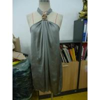 China Grey Chiffon Womens Club Dresses Boutiques Open Back Knot / Halter Neck Short Dress on sale