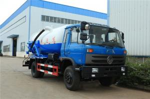 China 10 Ton Suction Sewage Truck Dongfeng 170hp 10m3 Vacuum Sewer Suction Tanker on sale