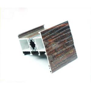 China Wood Finish Aluminium Profiles , Window Accessory Aluminum Window Frame Parts on sale