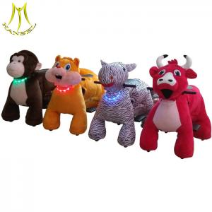 China Hansel electronic horse giant toy ride coin operated plush animal furry ride on sale