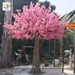 UVG 3 mètre les arbres artificiels grands avec les fleurs roses de fleurs de cerisier pour la décoration CHR142 de mariage de jardin