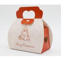 China Recyclable Christmas Paper Gift Packaging Box With Handle Custom Design on sale