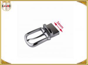 Quality Zinc Alloy Belt Buckle Hardware , Gunmetal Color Custom Made Belt Buckles for sale