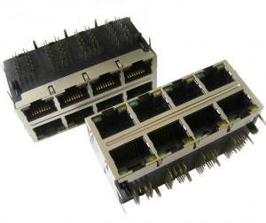 Quality le modem de xDSL a empilé RJ45 magnétique, le connecteur 0811-2X4R-79-F de la for sale