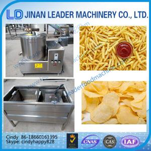 China Small scale potato chips making machine french fries machine Continuous Deep Fryer on sale