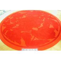 China Customized Round Red Soft Wool Hand Knotted Carpet With 80% Wool 20% Nylon on sale