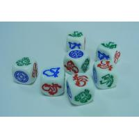 Wholesale quality colored promotional acrylic specialty normal poker customed printed dice
