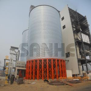 China Grain storage galvanized steel silo assembled with Hot galvanized steel plate use for storage maize/soya/wheat on sale
