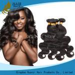 paquetes brasileños del pelo de la onda del cuerpo 7A, extensiones naturales del pelo de la Virgen del 100%