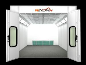 China Ceiling Filter Auto Spraying Rooms, Customized Side Draft Paint Booth on sale